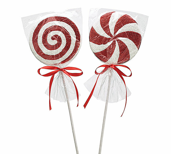 """18"""" Red and White Peppermint Christmas Tree Pick  9728668"""