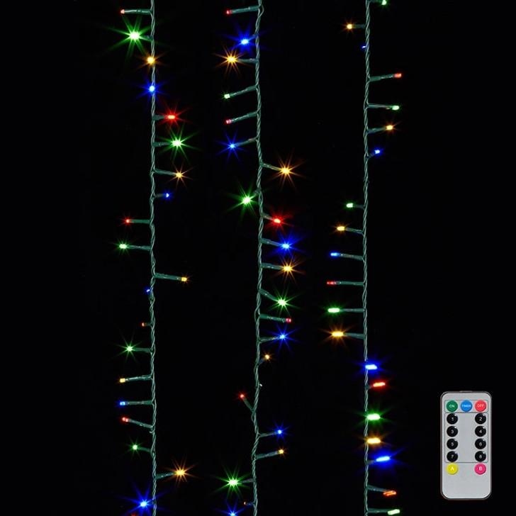 Raz 8 Function Multi Color LED 73' Christmas Snake Compact 1000 Lights G3737057