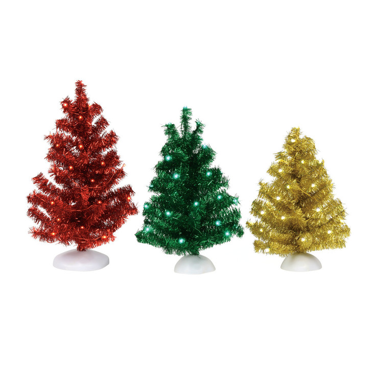 Department 56 Village Accessory Magical Tinsel Trees 6001732