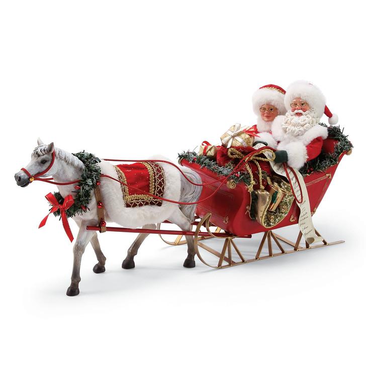 Afdeling 56 Mulige drømme Santa One Horse Open Sleigh 6000717