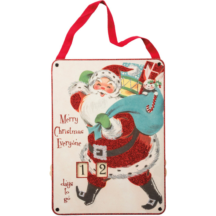 """14.5"""" Primitives By Kathy Merry Christmas Wooden Countdown 32275"""