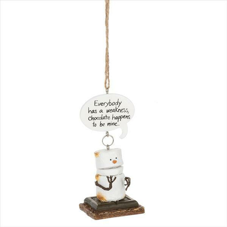 "4"" Toasted S'mores Everybody has a Weakness Christmas Ornament 150832"