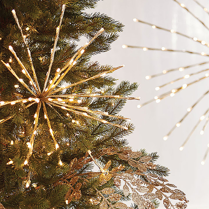 "Raz 17"", 23"", or 27.5"" Gold LED Lighted Starburst with Remote Christmas Decorations"