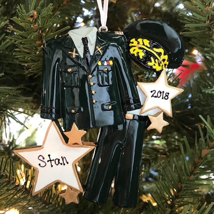 Armed Services Army Uniform Personalized Christmas Ornament