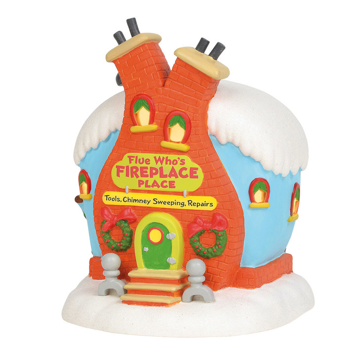 Department 56 Grinch Village Flue Who's Fireplace Place Building 6003319