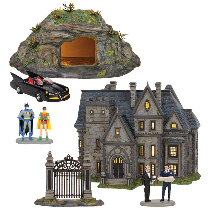 Department 56 DC Comics Batman Village Full 3 Piece Set 6002318SET