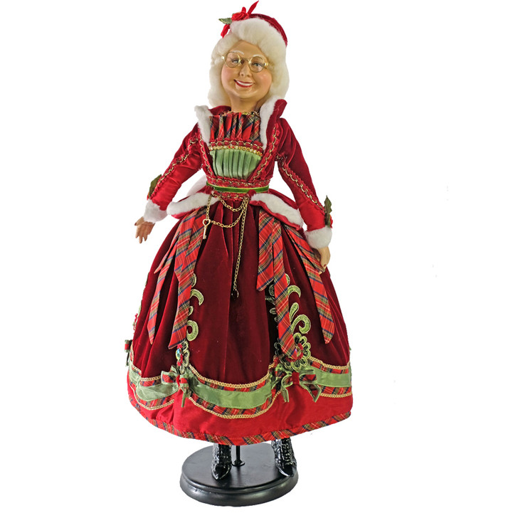 """Katherine's Collection 24"""" Mrs. Claus Christmas Figure 11-911528"""