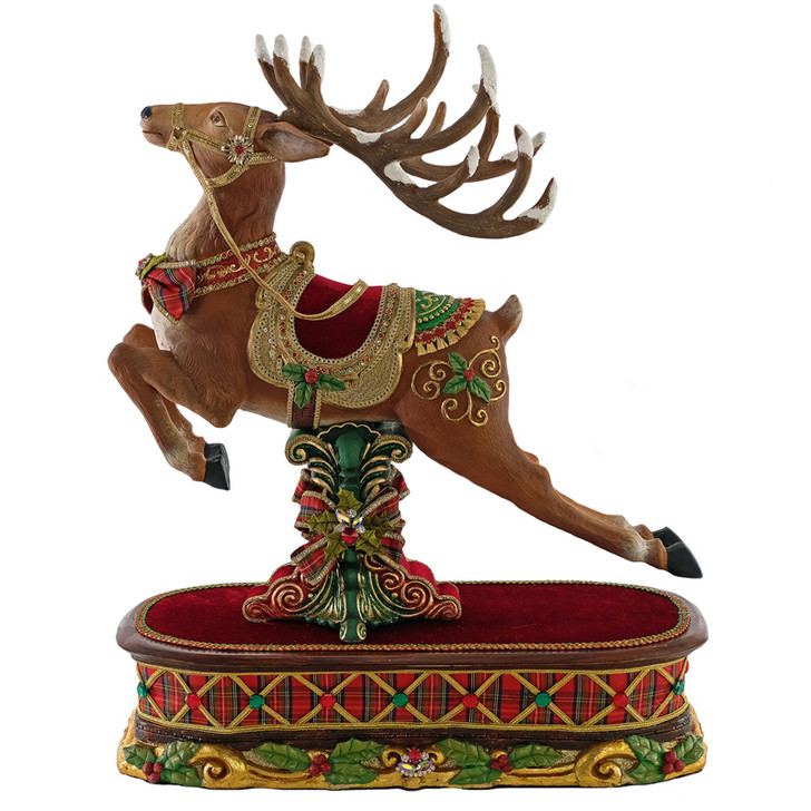 "Katherine's Collection 24"" Decorative Reindeer On Box Christmas Figure 28-928472"