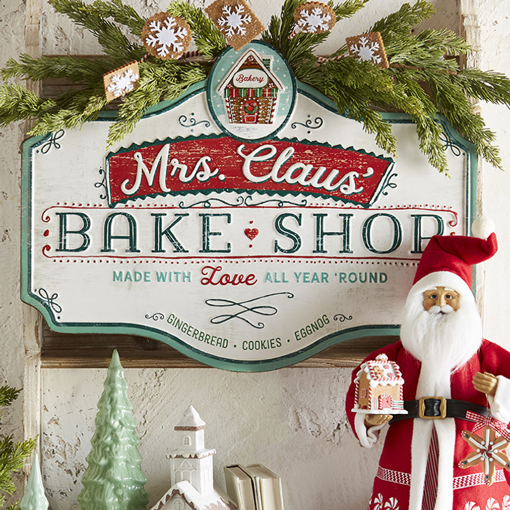 "Raz 23.5"" Metal Bake Shop Christmas Sign 3912331"