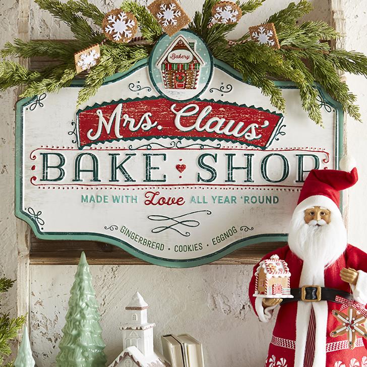 "Raz 23.5"" Metal Bake Shop Christmas Sign 3912331"