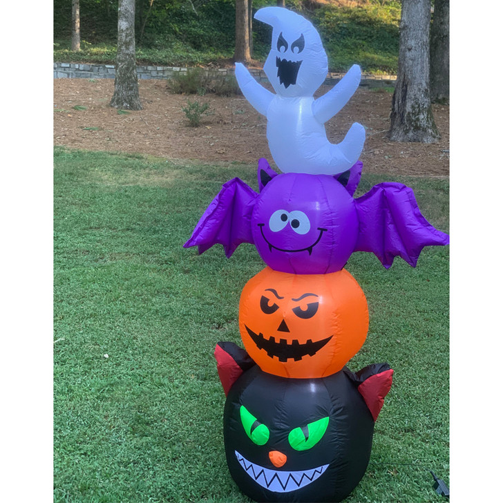 """72"""" Electric Inflatable Halloween Character Totem Pole Outdoor Decoration 2493320 2"""