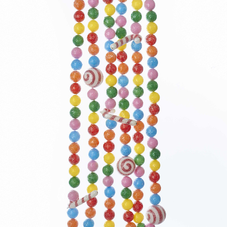 6' Candy Cane Gumball Christmas Tree Garland H2047