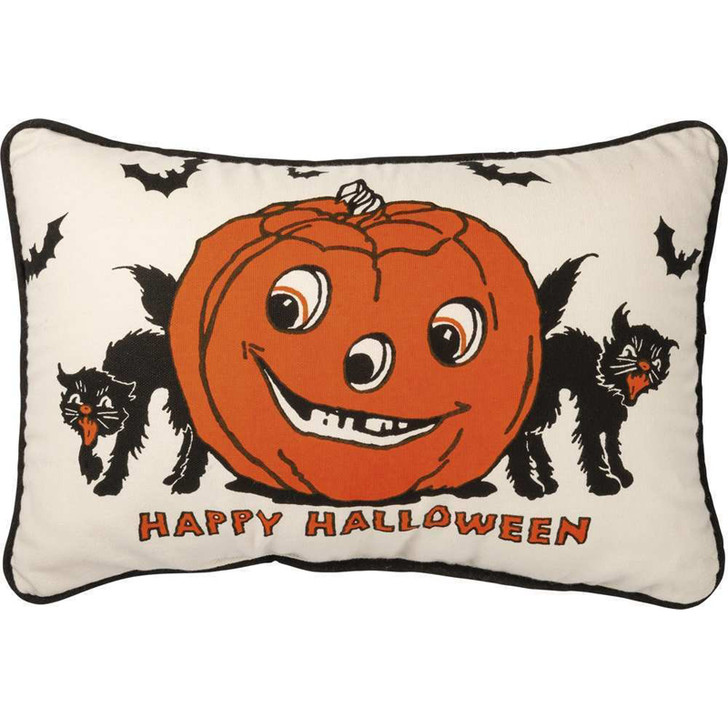 """Primitives By Kathy 15"""" Happy Halloween Throw Pillow 101774"""