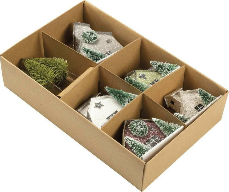 Primitives By Kathy Glittered Barn and Houses Sitter Set 104279