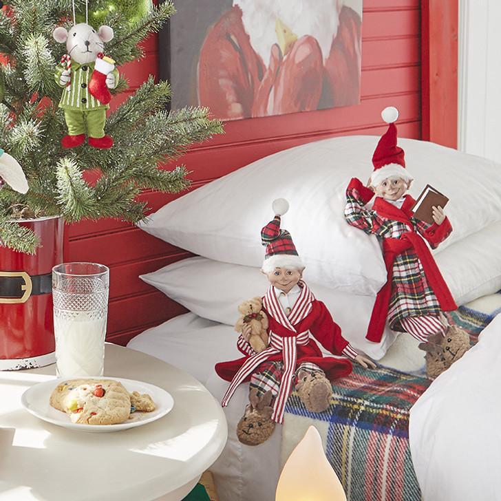 "Raz 16"" Posable Pajama Elves Christmas Figure 3902250"