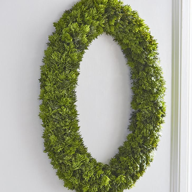 "Raz 30"" Oval Cedar Christmas Wreath W3932021"
