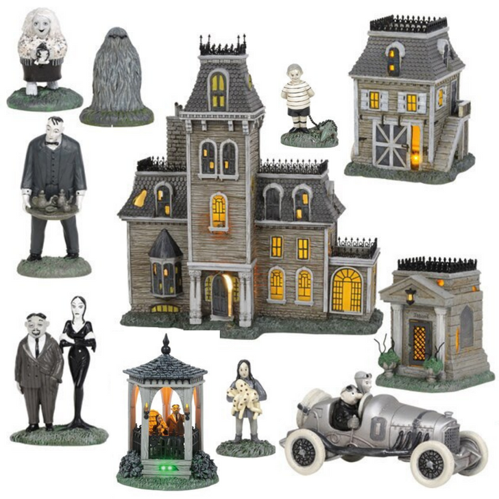 Department 56 The Addam's Family Village 11 Piece Full Set 6004271SET