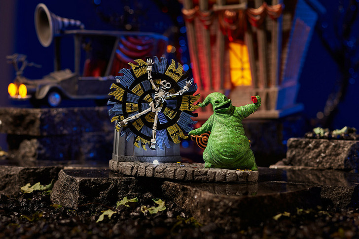Department 56 The Nightmare Before Christmas Oogie Boogie Gives a Spin Animated Village Figure 6004819
