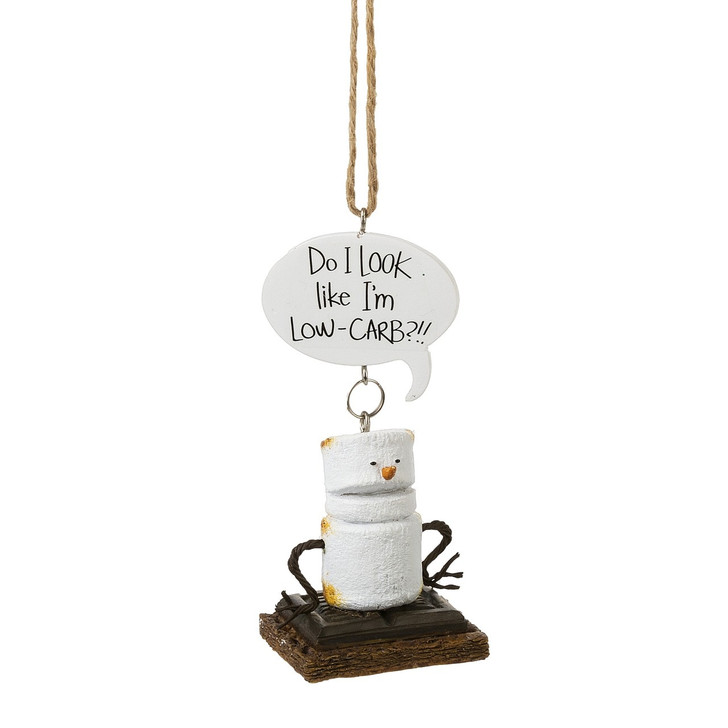 """4"""" Toasted Low Carb S'more Christmas Ornament 164728"""