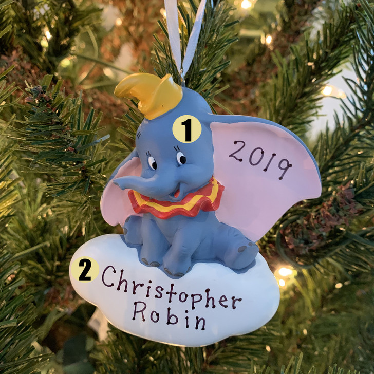 "Hallmark 3.4 ""Dumbo Personalized Christmas Ornament 2HCM5660"