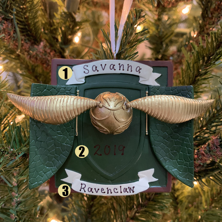 "Hallmark 3"" Harry Potter Golden Snitch Personalized Christmas Ornament 2HCM5371"