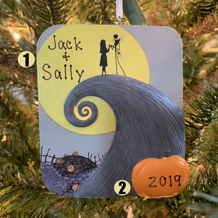 "Hallmark 3.9"" The Nightmare Before Christmas Personalized Christmas or Halloween Ornament 2HCM5426"