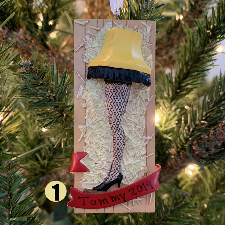 "Hallmark 3.75"" Leg Lamp Personalized Christmas Ornament 2HCM5413"