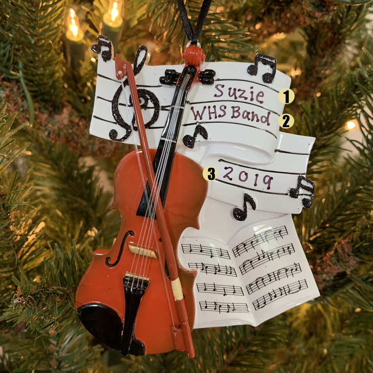 Violin Personalized Christmas Ornament OR1539