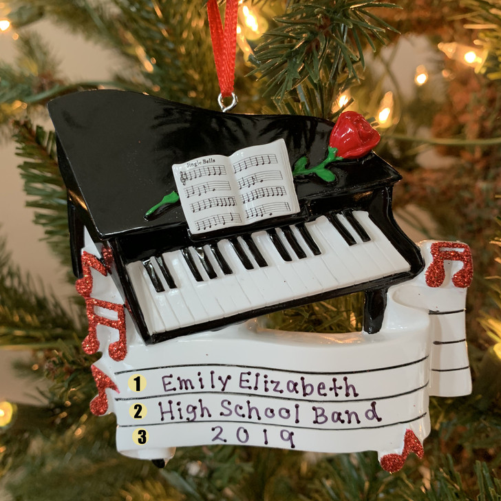 Grand Piano Personalized Christmas Ornament OR1618