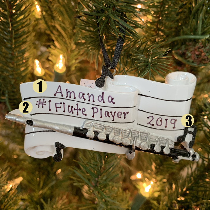 Flute Personalized Christmas Ornament OR1684