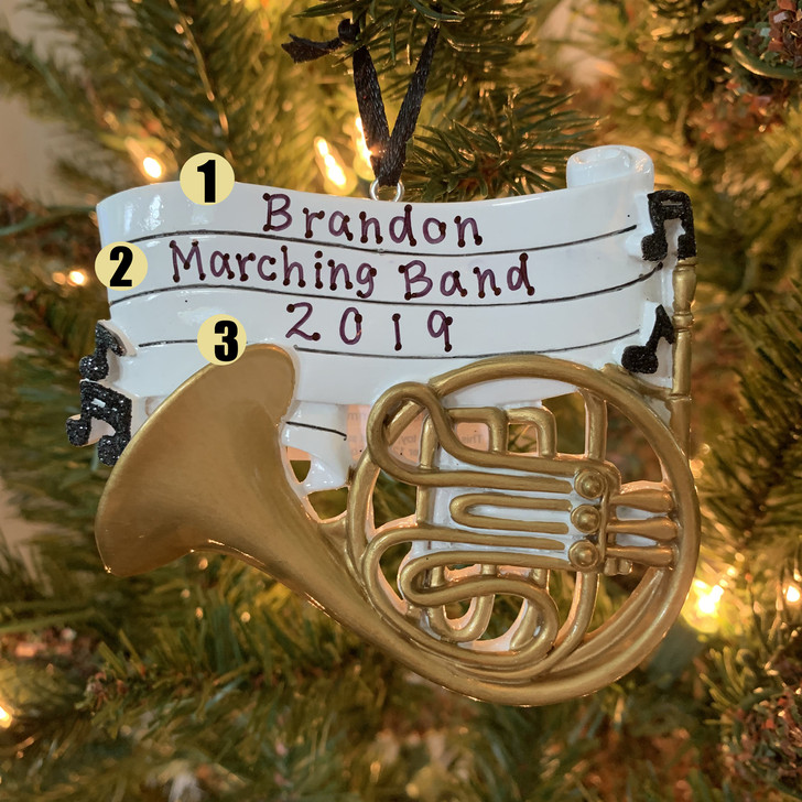 French Horn Personalized Christmas Ornament OR1685