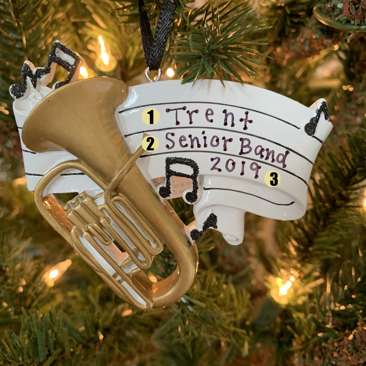 Tuba Personalized Christmas Ornament OR1688