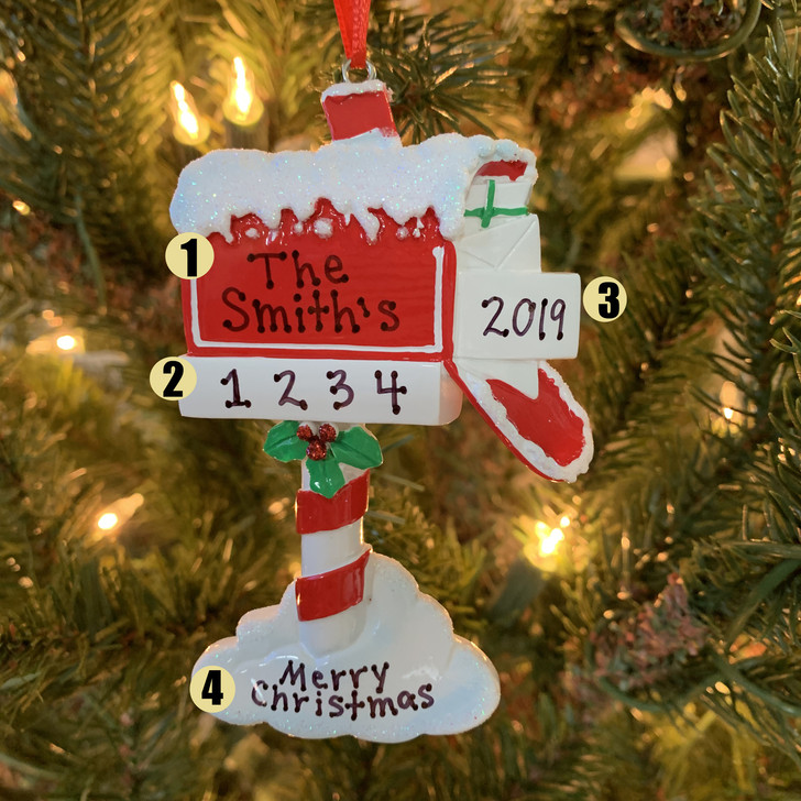 Merry Mailbox Personalized Christmas Ornament OR1741