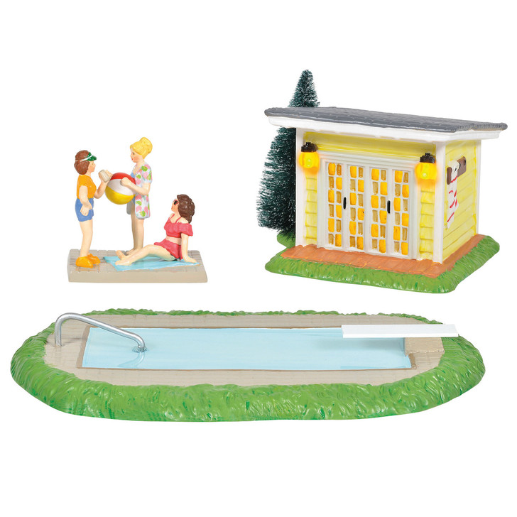 Department 56 Snow Village Pool Fantasy Set 6005457