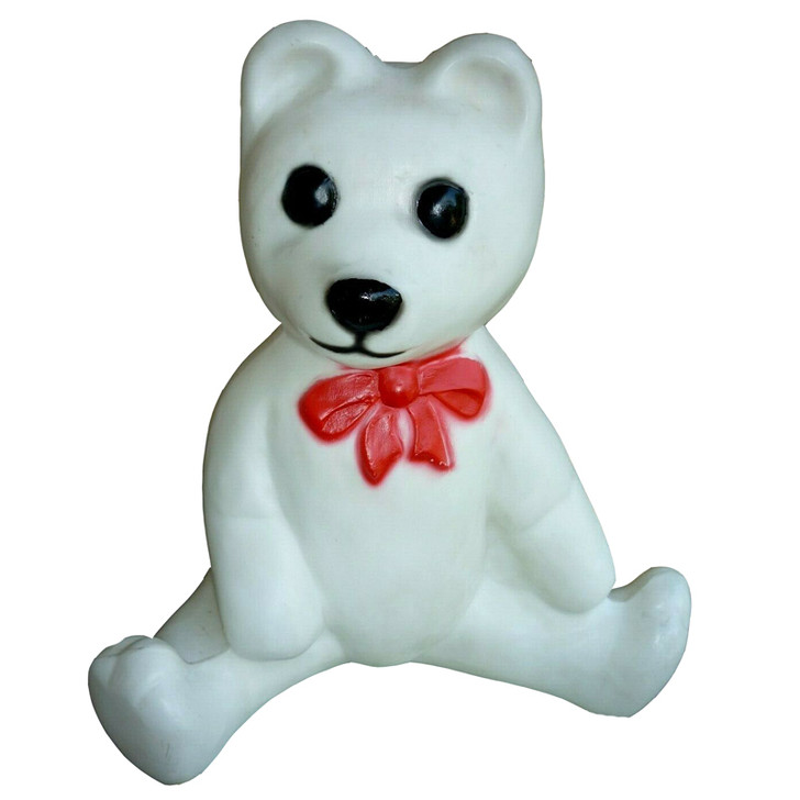"""18 """"White Bear Blow Mold Christmas Outdoor Decor 75125"""