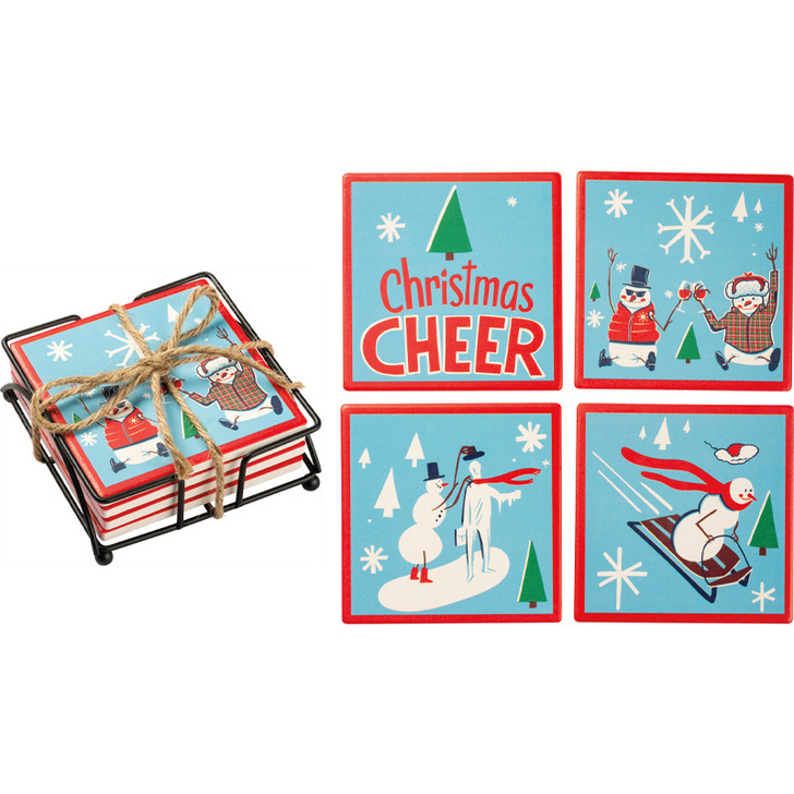 Primitives By Kathy Christmas Cheer Coaster Set 102801
