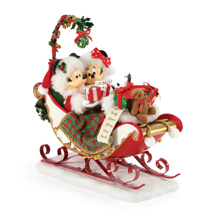Department 56 Possible Dreams Disney Sleigh Bells & Mistletoe Figure 6006012