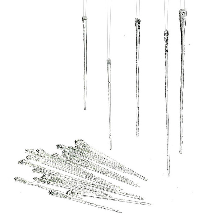 Department 56 Set of 24 Glass Icicle Christmas Ornament 4028568