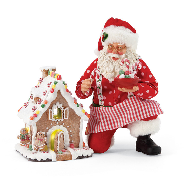 Department 56 Possible Dreams Santa Gingerbread House Kit Figure 6005262