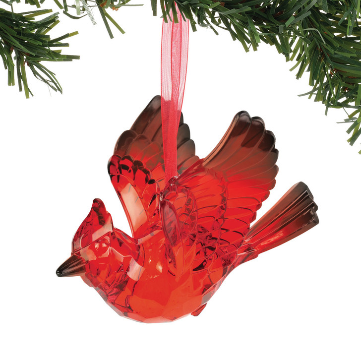 Department 56 Red Faceted Cardinal Christmas Ornament 6005371
