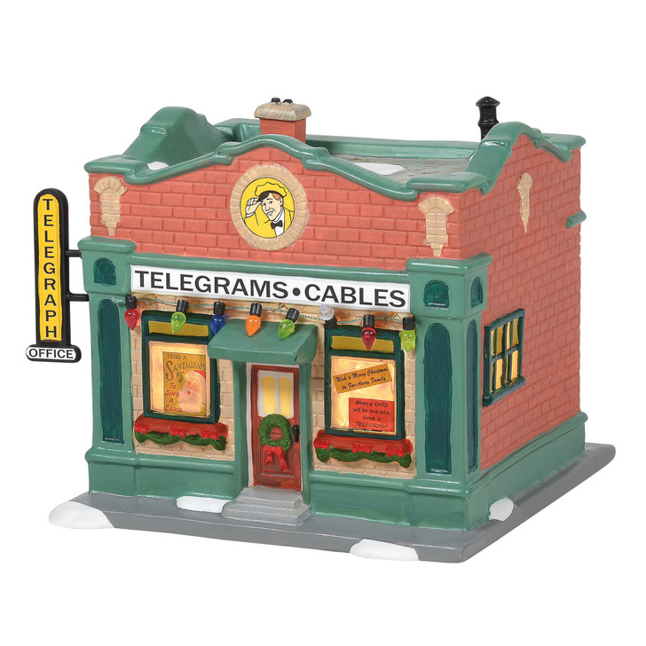 Department 56 A Christmas Story Village Hohman Telegraph Office Building 6005576