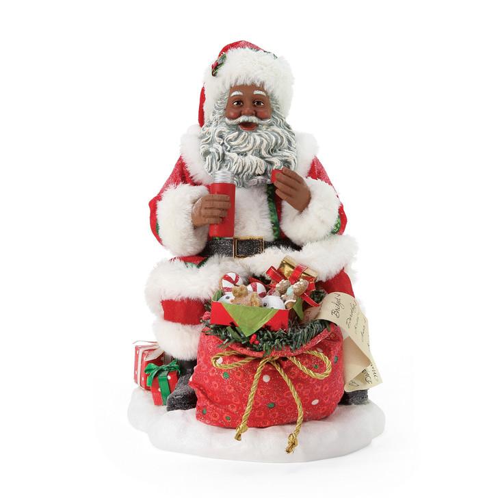 Department 56 Possible Dreams Rooftop Picnic African American Santa Figure 6006473