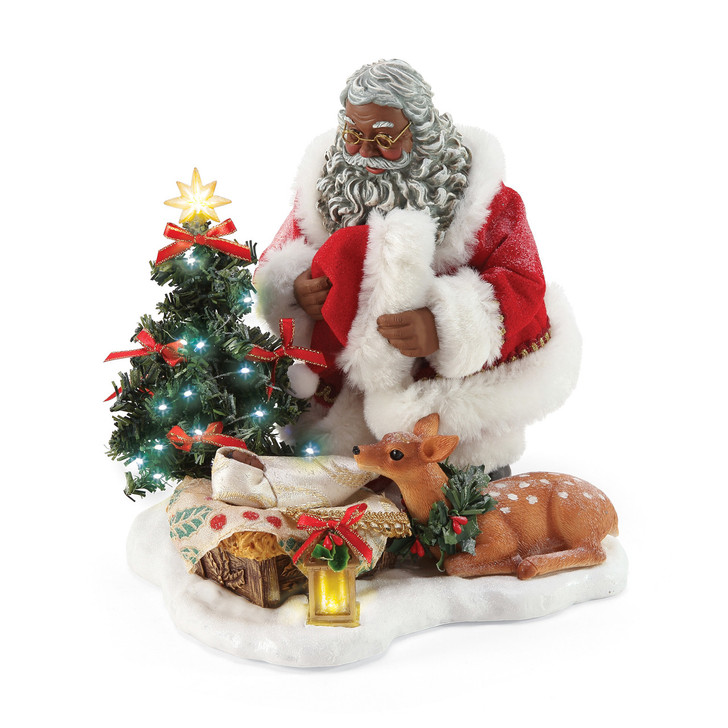 Department 56 Possible Dreams Santa Holy Infant African American Figure 6006475