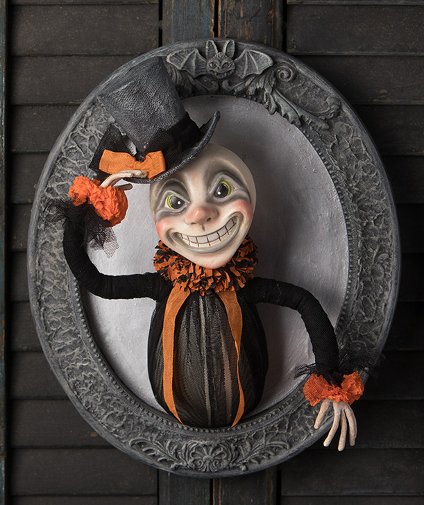 "Bethany Lowe 13"" Leering Lawrence Halloween Wall Hanging Decoration LA9245"