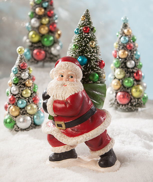 "Bethany Lowe 15"" Merry and Bright Santa Christmas Figure TL8752"