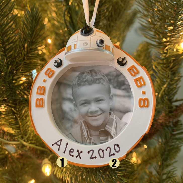 Hallmark BB-8 Star Wars™ Photo Holder Personalized Christmas Ornament 2HCM5419
