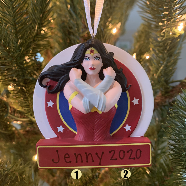 "Hallmark 3.25"" Wonder Woman™ Personalized Christmas Ornament 2HCM5499 -2"