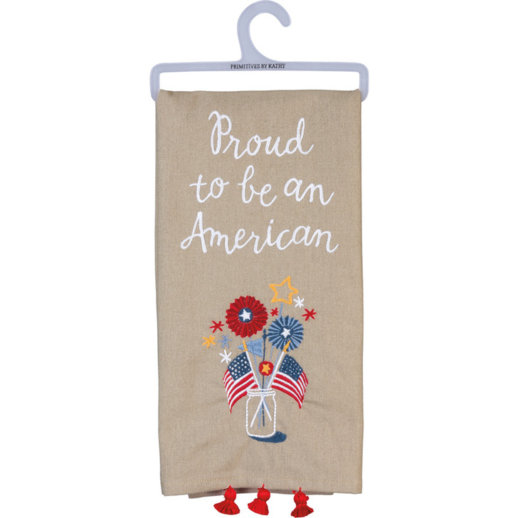 Primitives By Kathy Proud To Be An American Kitchen Towel 100720