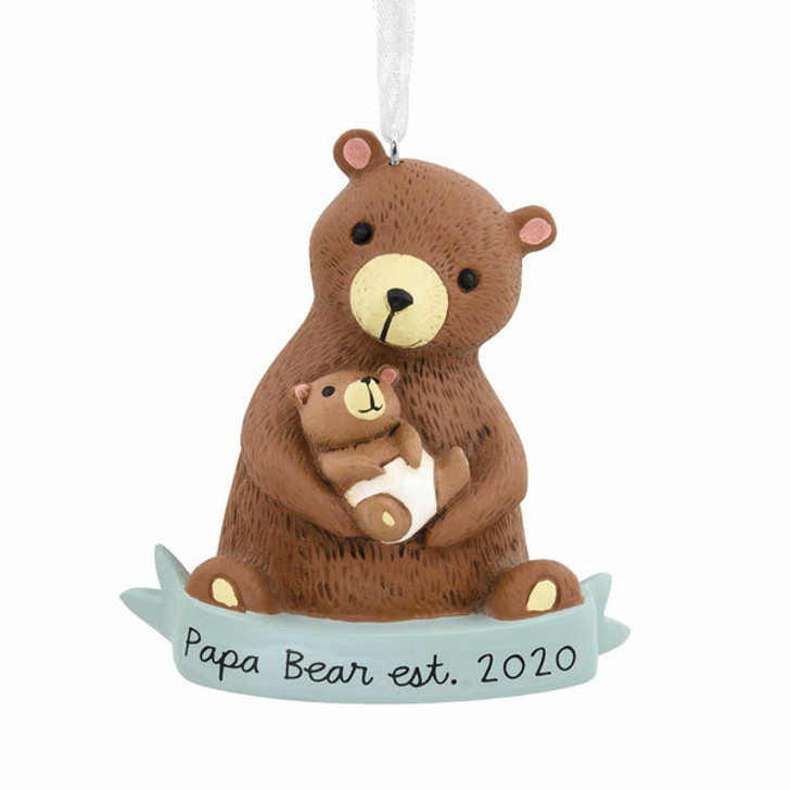 "Hallmark 2.6"" New Dad Papa Bear 2020 Dated Christmas Ornament 1HGO2301"