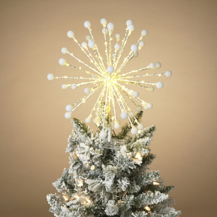 "13.7"" Electric LED Warm White Lighted Starburst Christmas Tree Topper 2546760"